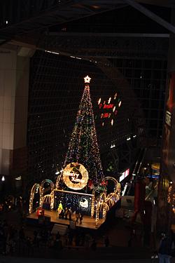 京都駅もクリスマス一色