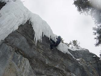 Hocus Pocus(M7) の岩から氷に移ったところ