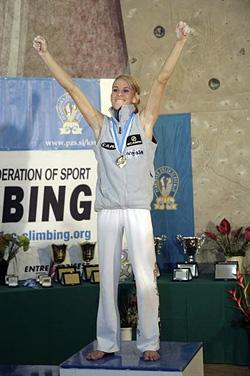 優勝した Maja Vidmar