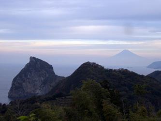 朝は富士山がきれいでした
