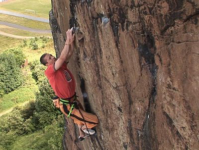 Steve McClure climbs Rhapsody