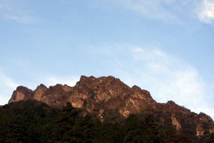 道の駅から妙義山(白雲山)