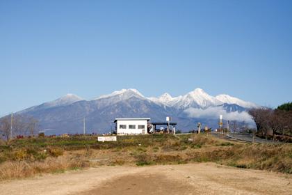八ヶ岳は真っ白でした