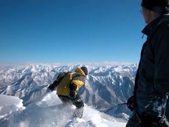 山頂からダイブ(上から)