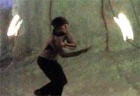 サンドラのファイヤーダンス