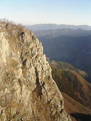 二子山西岳中央稜上部