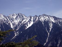奥穂 - 西穂の稜線