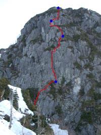 p9 南壁登攀ライン