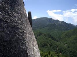 1P目終了点から金峰山