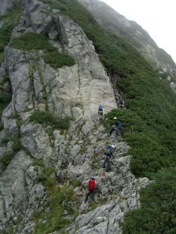 II峰ピークへの登り返し