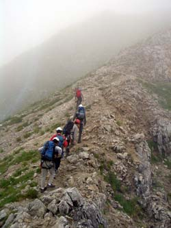 山頂目指して進む