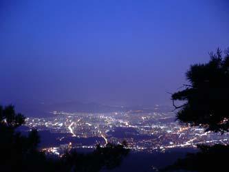 撤収時は既に真っ暗 ソウルの夜景
