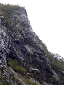 明星山 P5 末端壁