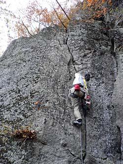 デゲンナーを登るふみちゃん
