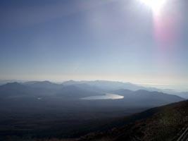 山中湖と丹沢