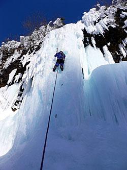 ミニ氷柱を登る