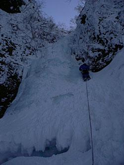糸滝を登る