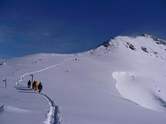 硫黄岳山頂直下
