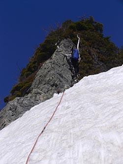 P5 への登り