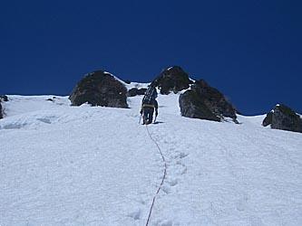 八ッ峰 I峰へ最後の登り
