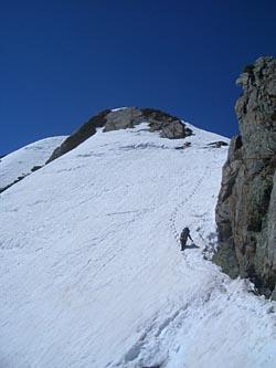 III峰への登り