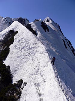 IV峰への登り