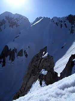 V峰の懸垂ポイント