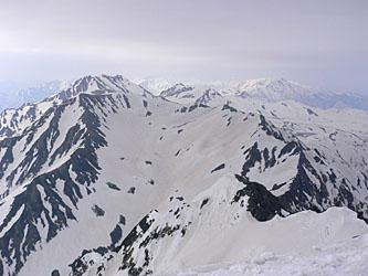 剱岳山頂より立山方面