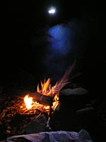こじんまりと焚き火