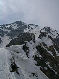 主稜の稜線