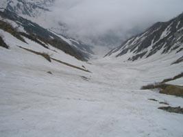 白馬大雪渓 絶好の斜面だったはずですが・・・