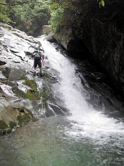 ウォータースライダーの滝