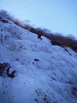 千波の滝 2P目