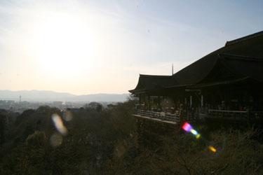 清水寺からの夕日